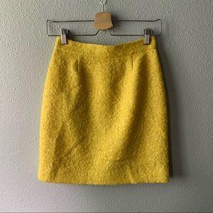 Yellow Kate Spade ♠️ Mohair Mini Skirt